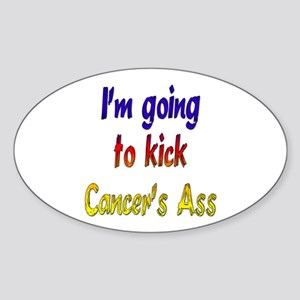 Kick Cancer's Ass ver2 Oval Sticker