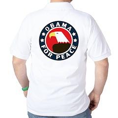 Obama For Peace Golf Shirt