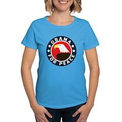 Obama For Peace Women's Dark T-Shirt