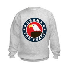 Obama For Peace Kids Sweatshirt