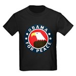 Obama For Peace Kids Dark T-Shirt