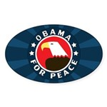 Obama For Peace Oval Sticker (10 pk)