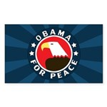 Obama For Peace Rectangle Sticker 50 pk)