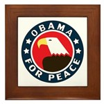 Obama For Peace Framed Tile