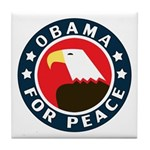 Obama For Peace Tile Coaster