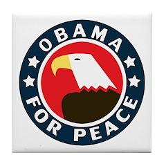 Obama For Peace Tile Coaster