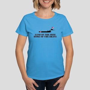 Land of the Free 4th of July Women's Dark T-Shirt