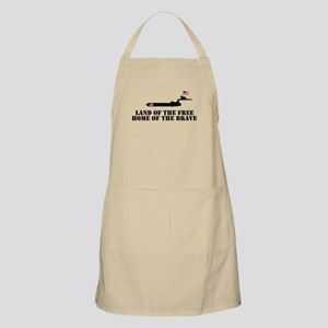 Land of the Free 4th of July BBQ Apron