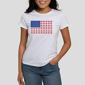 Cruiser Motorcycle Patriotic Flag Women's T-Shirt