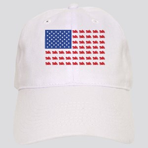 Cruiser Motorcycle Patriotic Flag Cap