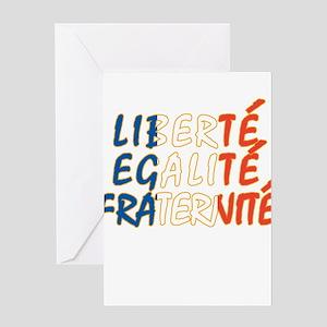 Liberte Egalite Fraternite Greeting Cards (Package