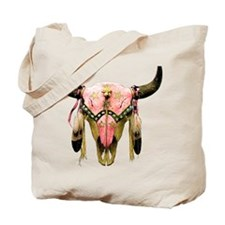 Star Bison Skull Tote Bag