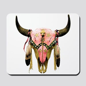 Star Bison Skull Mousepad