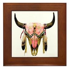 Star Bison Skull Framed Tile
