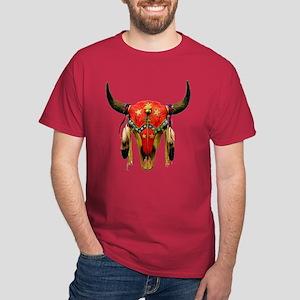 Star Buffalo Skull Dark T-Shirt