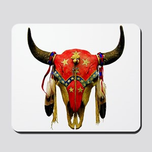 Star Buffalo Skull Mousepad