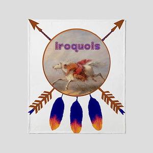 Native American Iroquois Throw Blanket