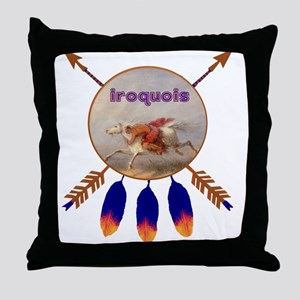 Native American Iroquois Throw Pillow