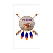 Native American Iroquois Sticker (rectangle)