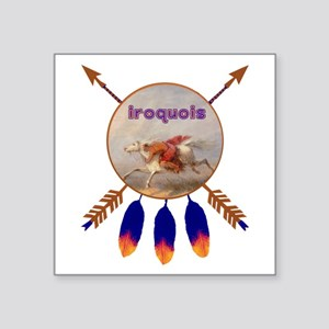 "Native American Iroquois Square Sticker 3"" x 3"""