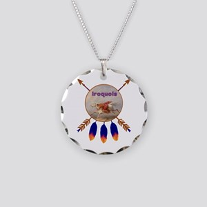 Native American Iroquois Necklace Circle Charm