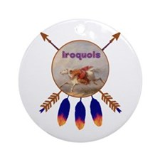 Native American Iroquois Round Ornament