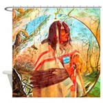 Native American Bear Medicine Shower Curtain