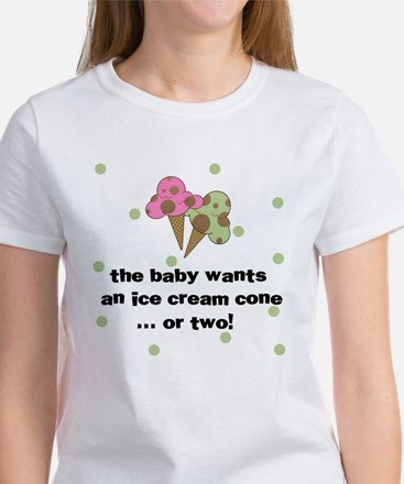 baby wants ice cream cone Women's T-Shirt