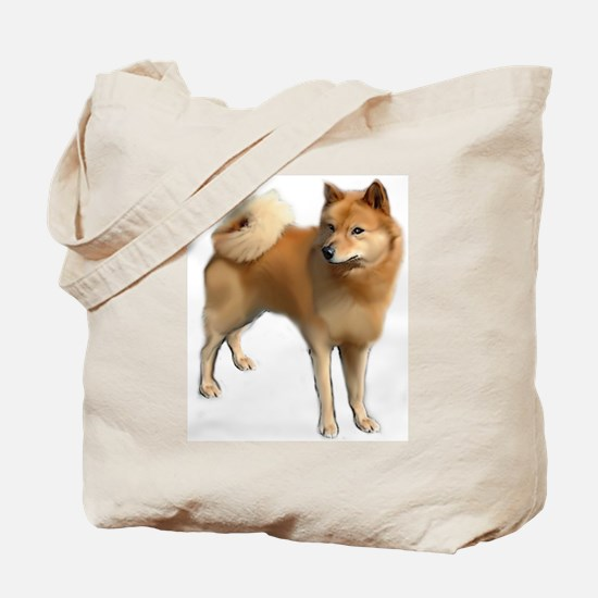 Finnish spitz portrait Tote Bag