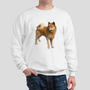 Finnish spitz portrait Sweatshirt
