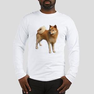 Finnish spitz portrait Long Sleeve T-Shirt