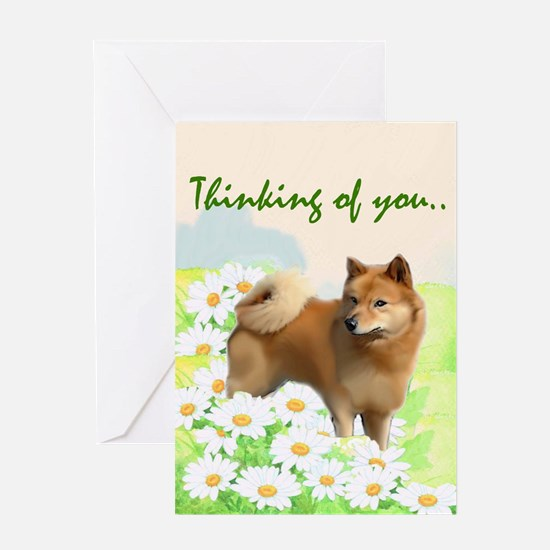 Finnish spitz sympathy Greeting Card