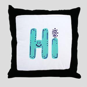 Hi - Throw Pillow
