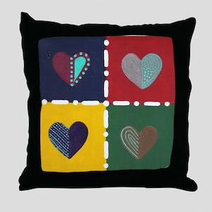 4 Hearts - Throw Pillow