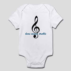 Here Comes Blue Treble Infant Bodysuit