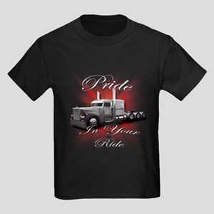 Pride In Ride 4 Kids Dark T-Shirt
