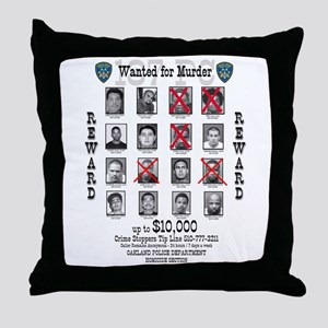 Wanted for Murder Throw Pillow
