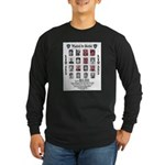 Wanted for Murder Long Sleeve Dark T-Shirt