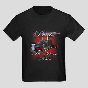 Pride In Ride 3 Kids Dark T-Shirt