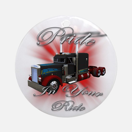 Pride In Ride 3 Ornament (Round)
