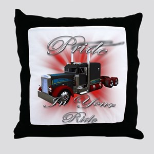 Pride In Ride 3 Throw Pillow