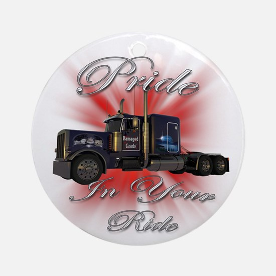 Pride In Ride 1 Ornament (Round)