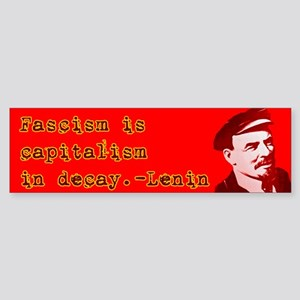 "Lenin ""Fascism"" Bumper Sticker"