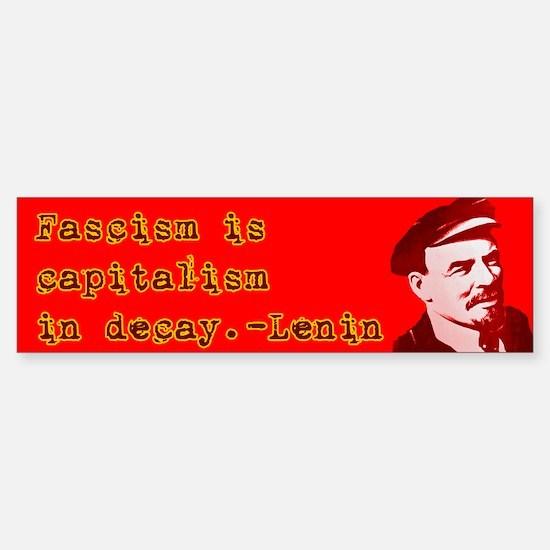 """Lenin """"Fascism"""" Bumper Bumper Bumper Sticker"""