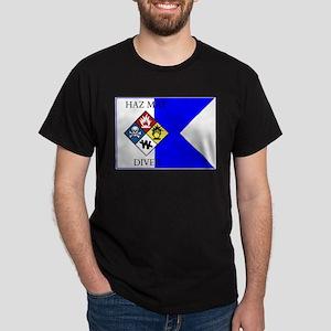 Haz-Mat Diver Alpha Flag Ash Grey T-Shirt