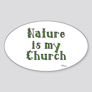 Nature is my Church Oval Sticker