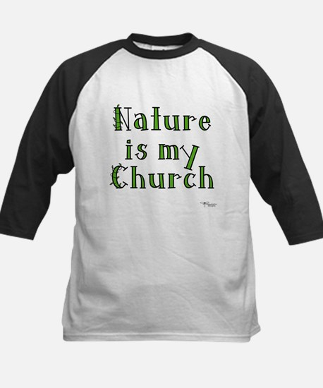 Nature is my Church Kids Baseball Jersey