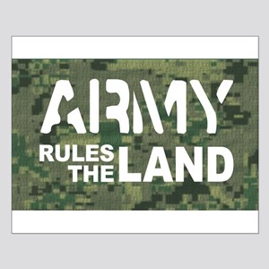 Army Rules Green Camo Small Poster
