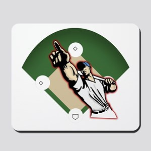 Pointing Batter Mousepad