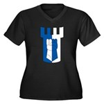 Haven Avare Women's Plus Size V-Neck Dark T-Shirt